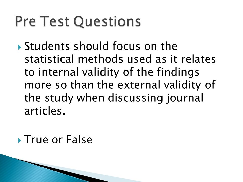 Pre Test Questions
