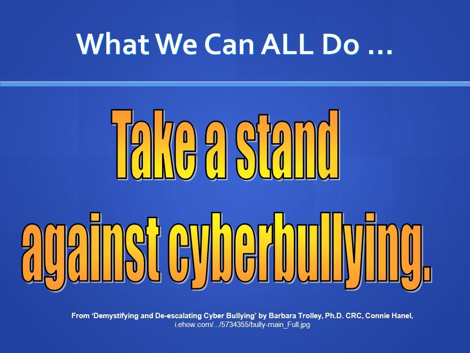 against cyberbullying.