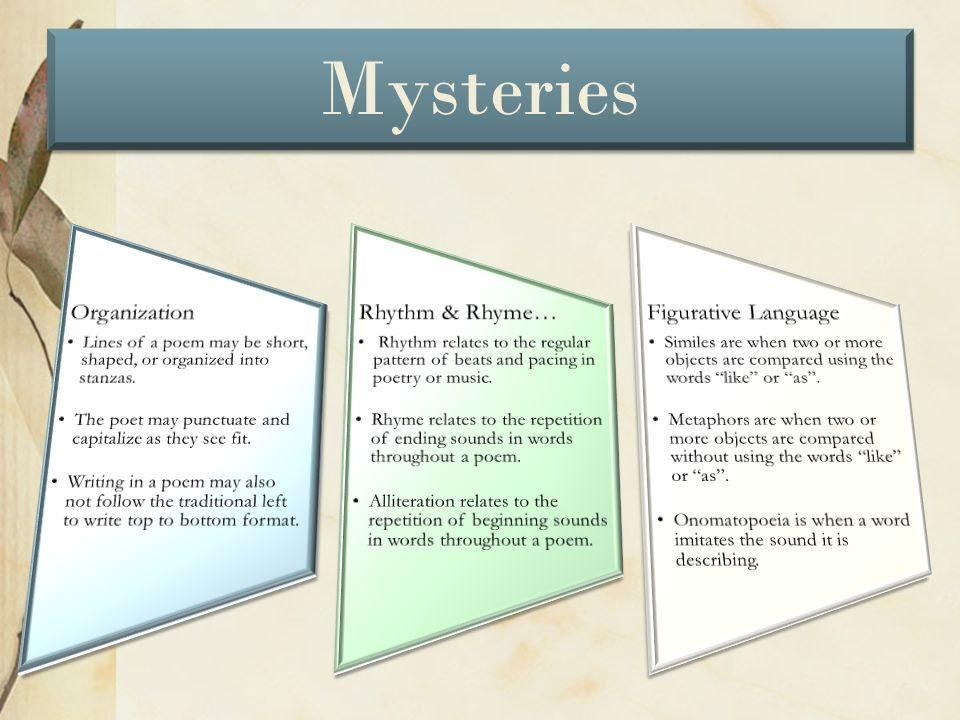 Mysteries Organization