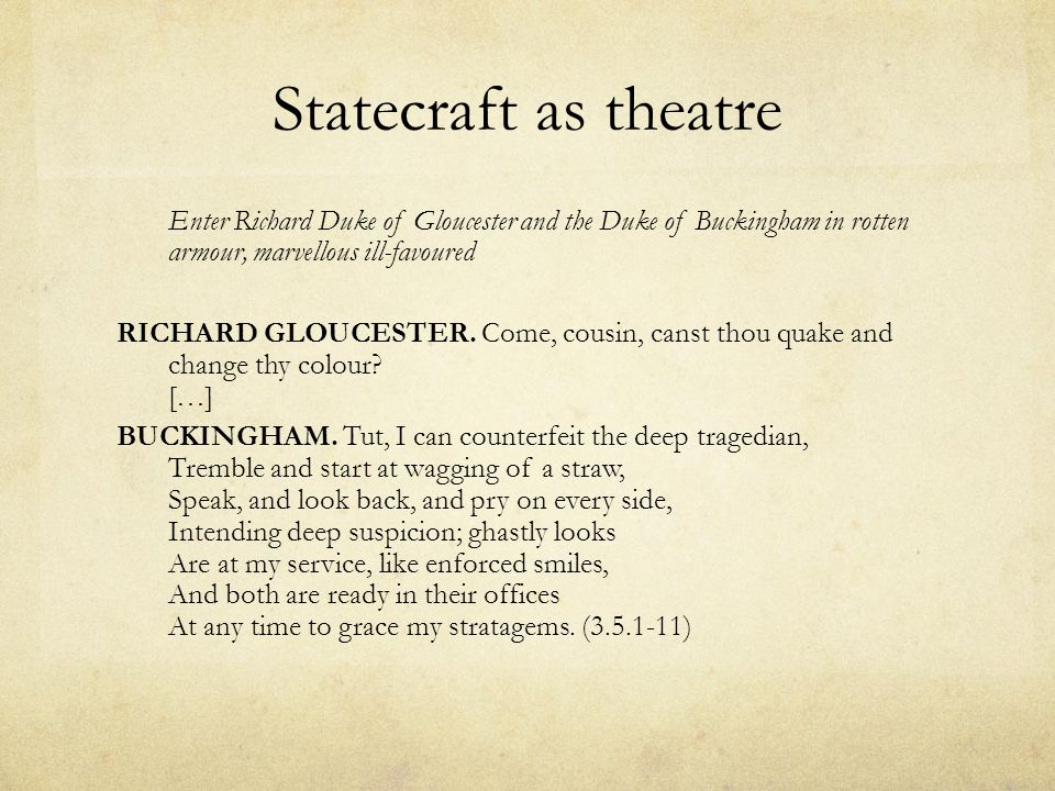Statecraft as theatre