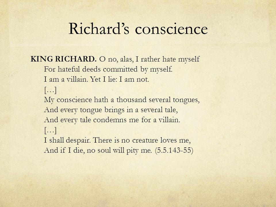 Richard's conscience