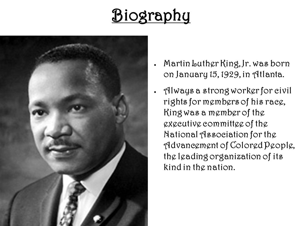 a biography of martin luther king jr and his civil rights efforts Fbi director j edgar hoover was personally hostile toward king, believing that the civil rights martin luther king, jr efforts to discredit sclc and king.