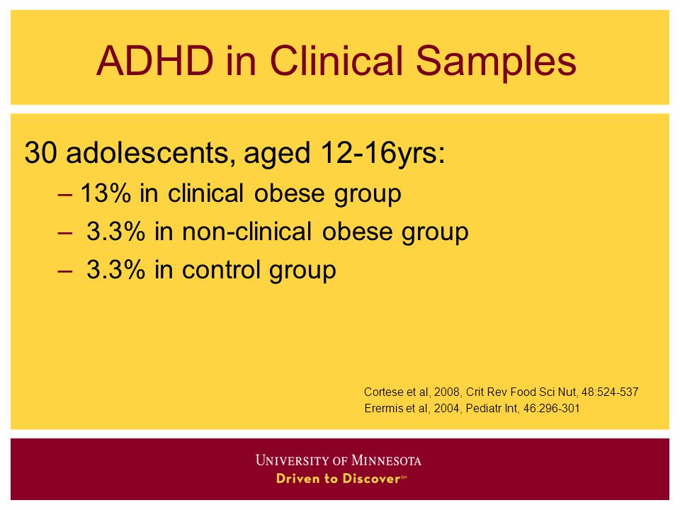 ADHD in Clinical Samples