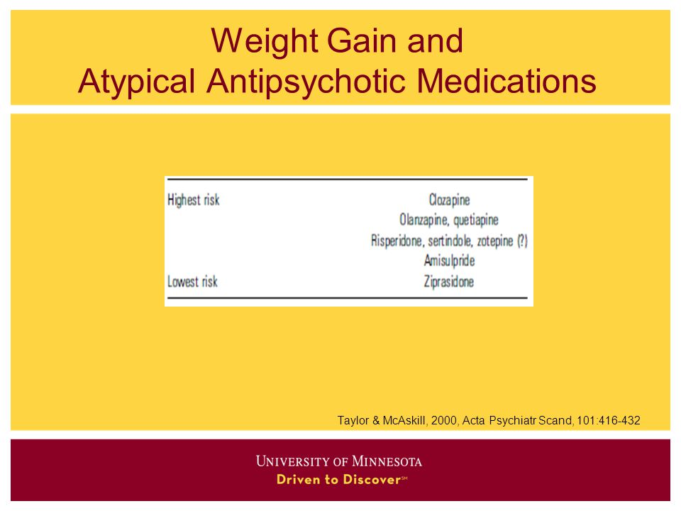 Weight Gain and Atypical Antipsychotic Medications