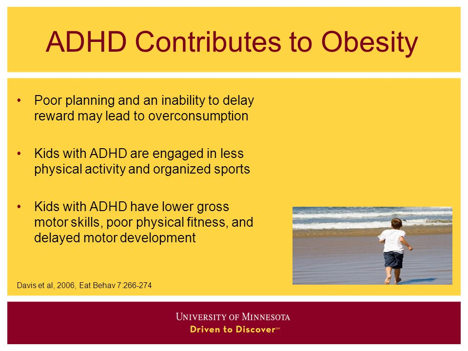 ADHD Contributes to Obesity