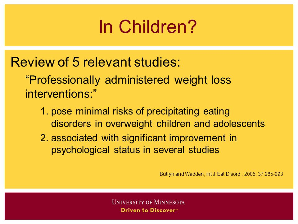 In Children Review of 5 relevant studies: