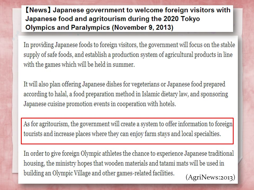 http://english.agrinews.co.jp/ p=1242 (AgriNews:2013)