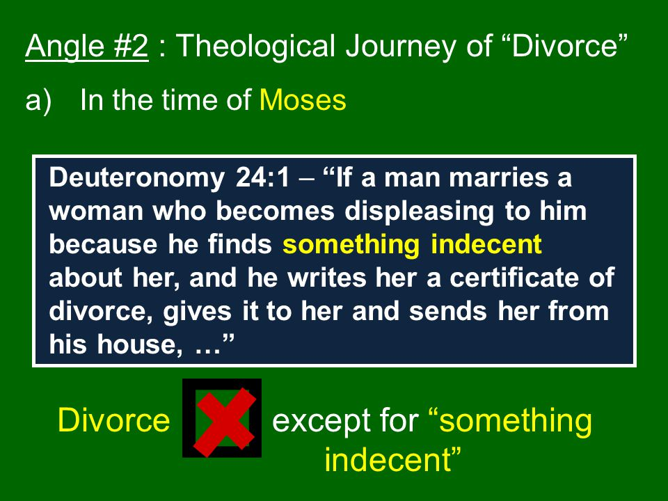 Divorce except for something indecent