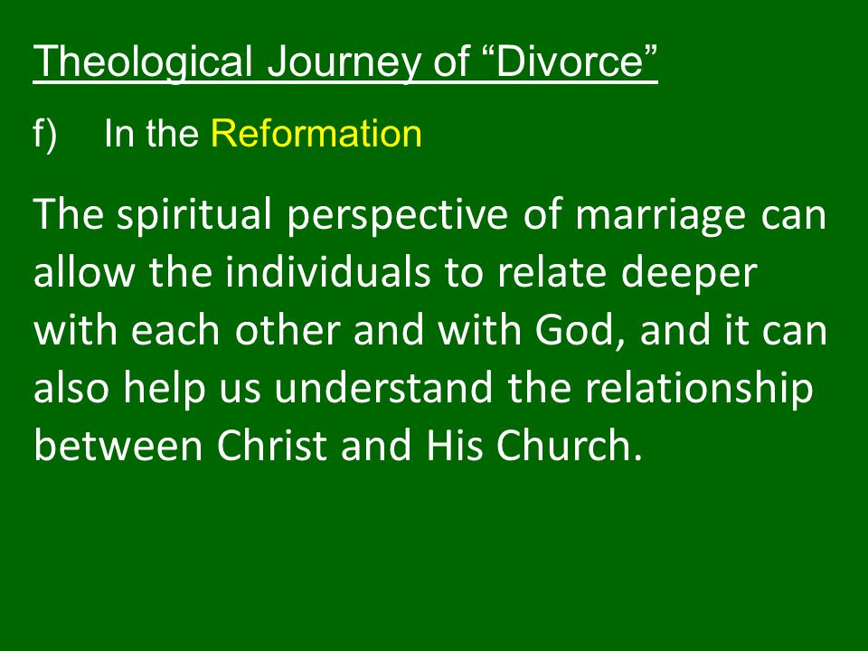 Theological Journey of Divorce