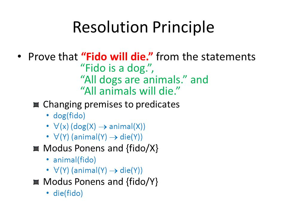 Resolution Principle