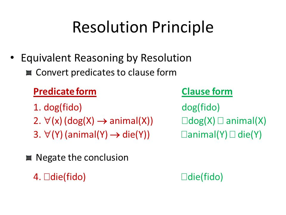 Resolution Principle Equivalent Reasoning by Resolution