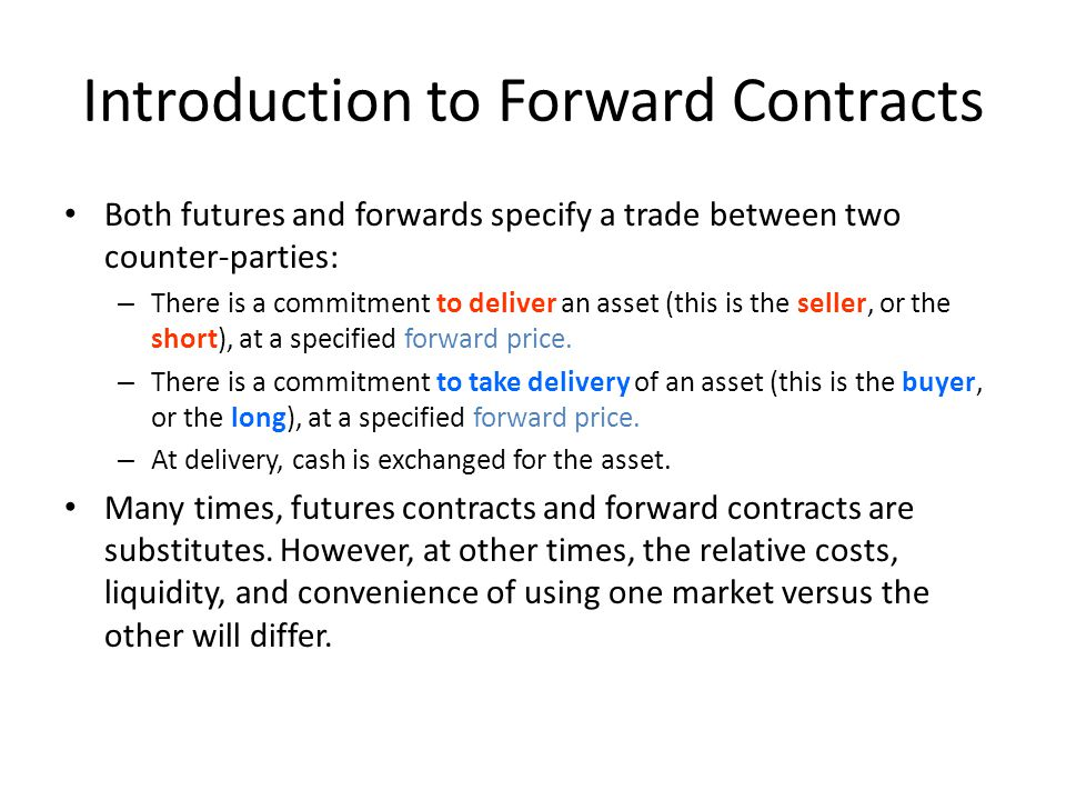 Introduction to Forward Contracts