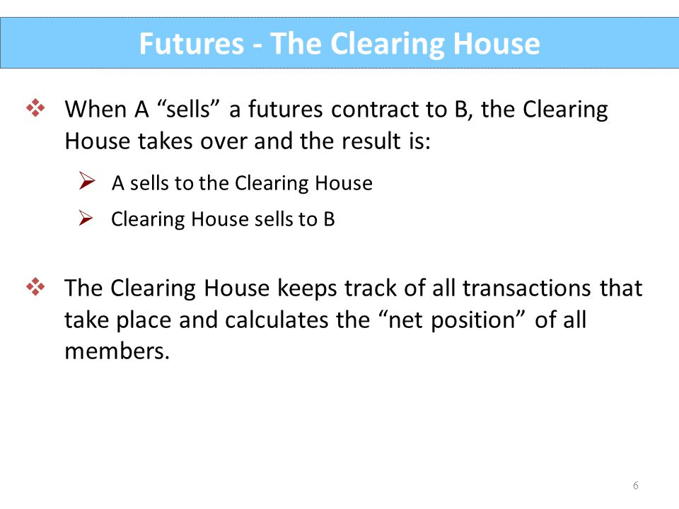 Futures - The Clearing House