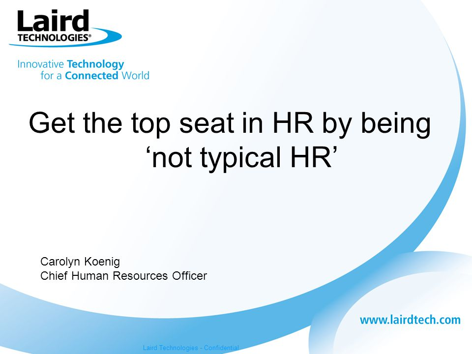 Get the top seat in HR by being 'not typical HR'