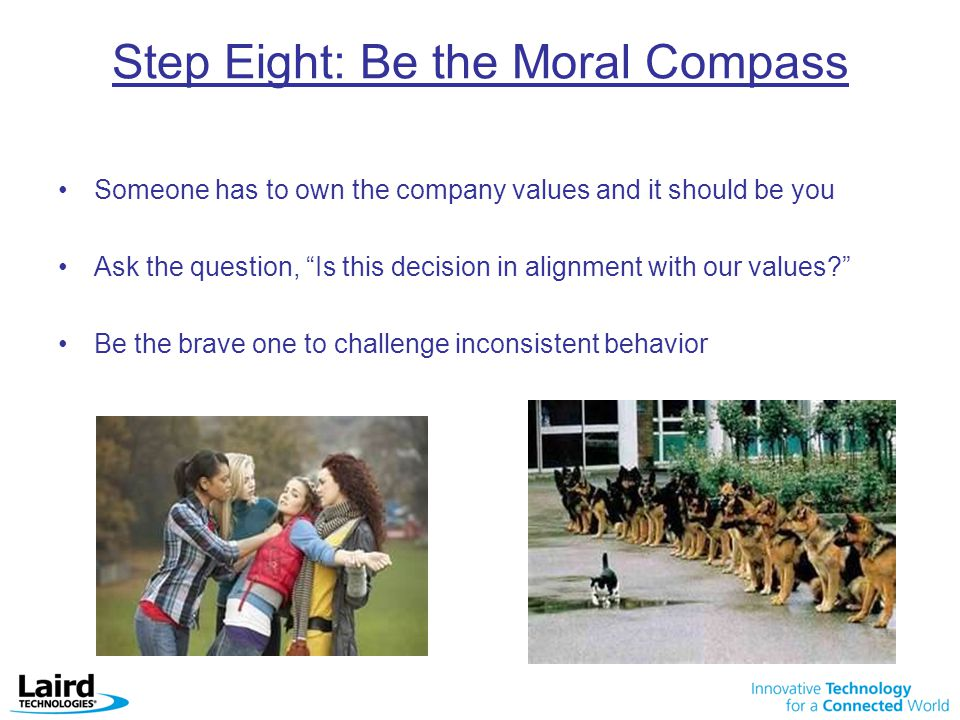 Step Eight: Be the Moral Compass