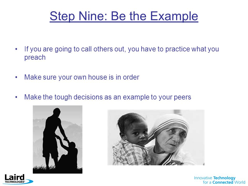Step Nine: Be the Example
