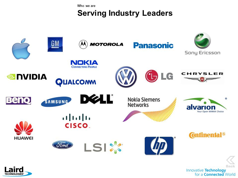 Who we are Serving Industry Leaders