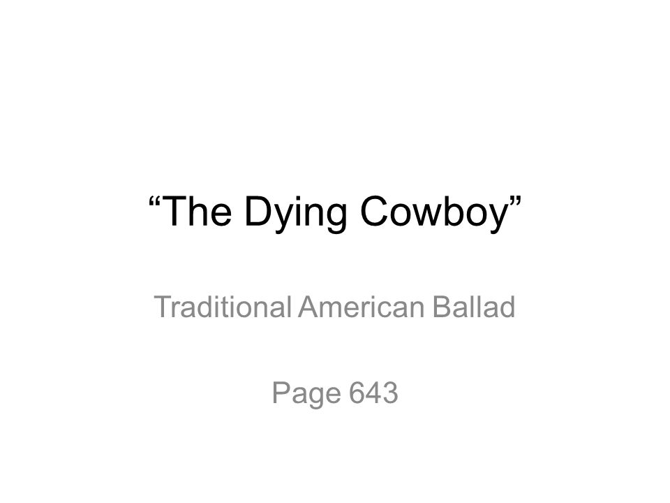 Traditional American Ballad Page 643