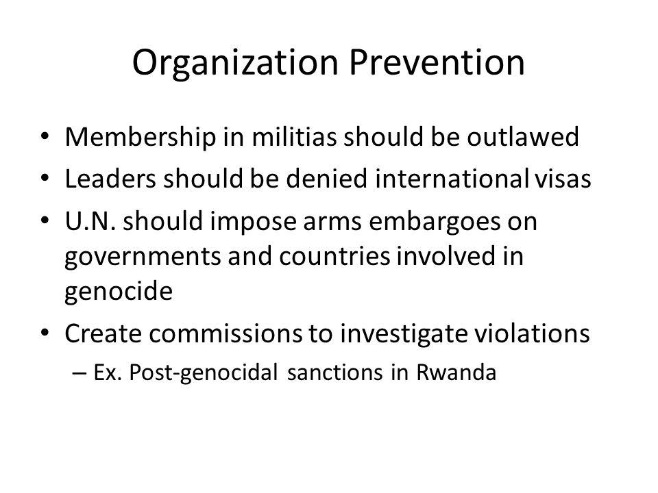 Organization Prevention