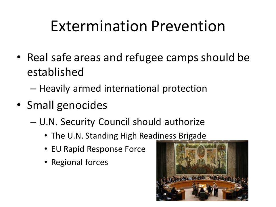 Extermination Prevention