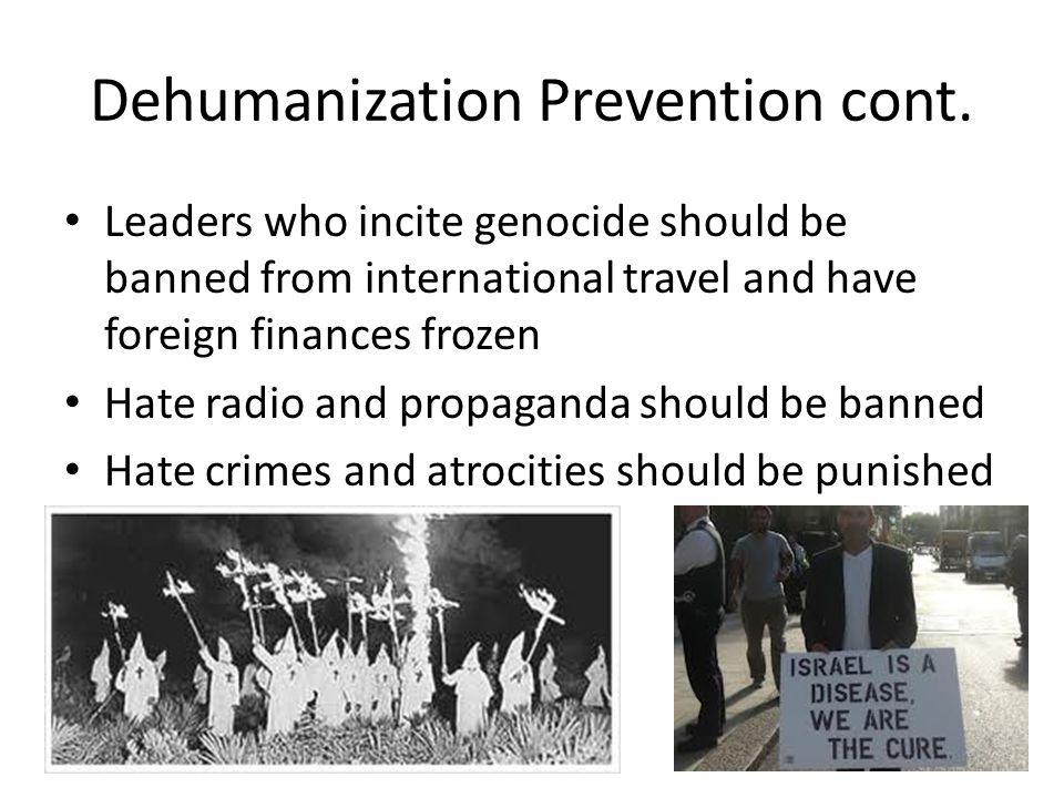Dehumanization Prevention cont.