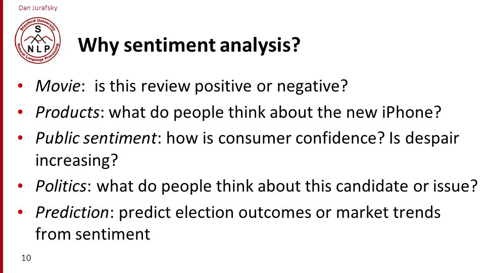 Why sentiment analysis