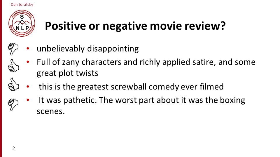 Positive or negative movie review