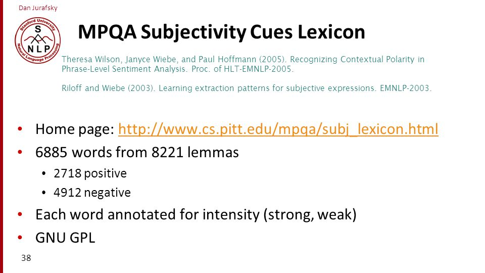 MPQA Subjectivity Cues Lexicon