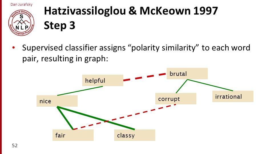 Hatzivassiloglou & McKeown 1997 Step 3