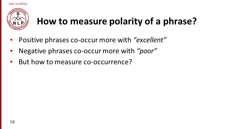 How to measure polarity of a phrase