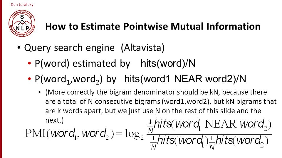 How to Estimate Pointwise Mutual Information