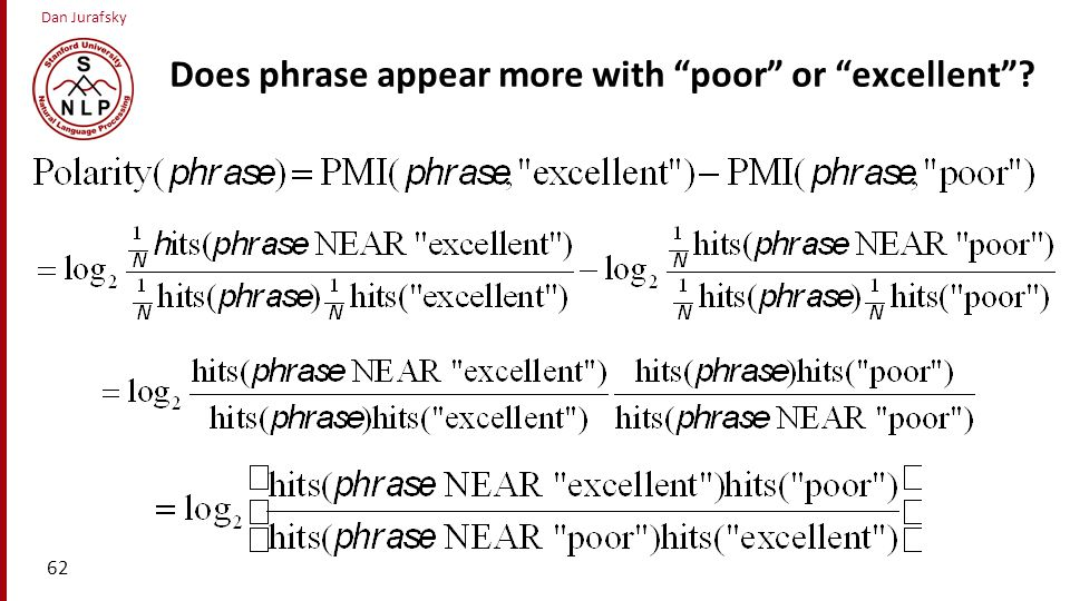 Does phrase appear more with poor or excellent