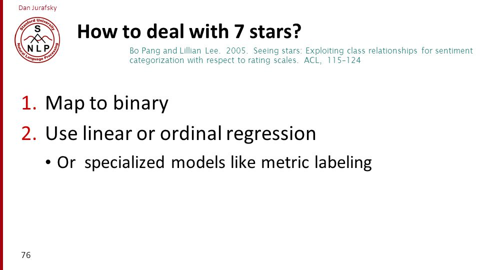Use linear or ordinal regression