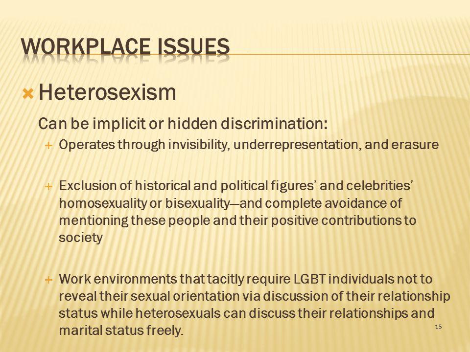 Heterosexism Workplace Issues