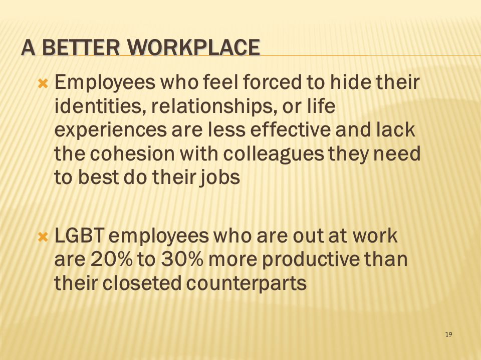 A Better Workplace