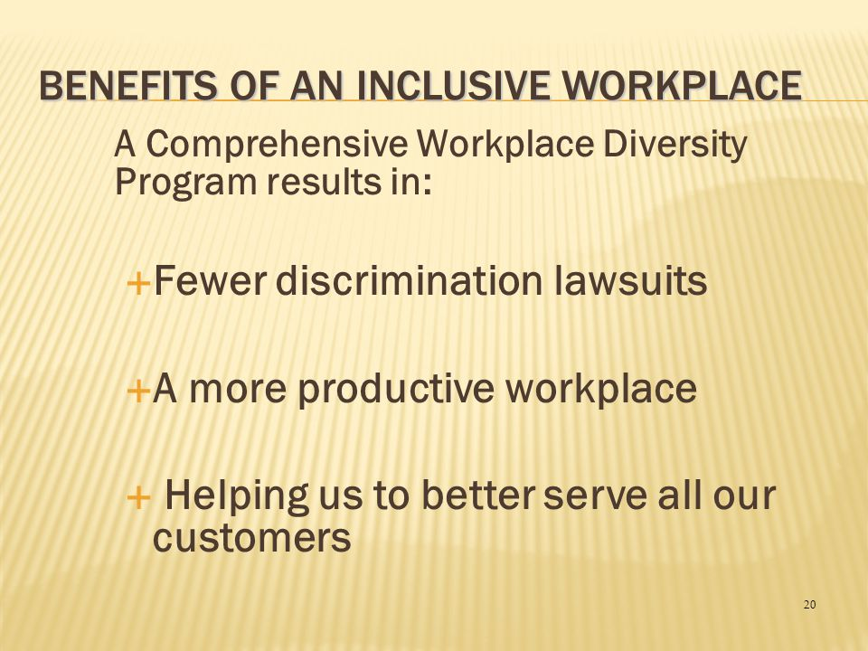 Benefits of an Inclusive Workplace