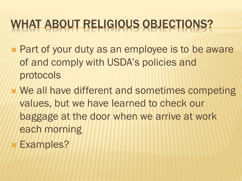 What About Religious Objections
