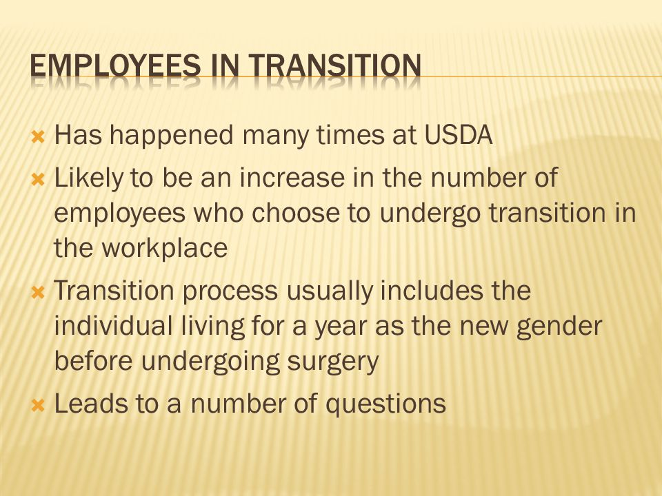 Employees in Transition