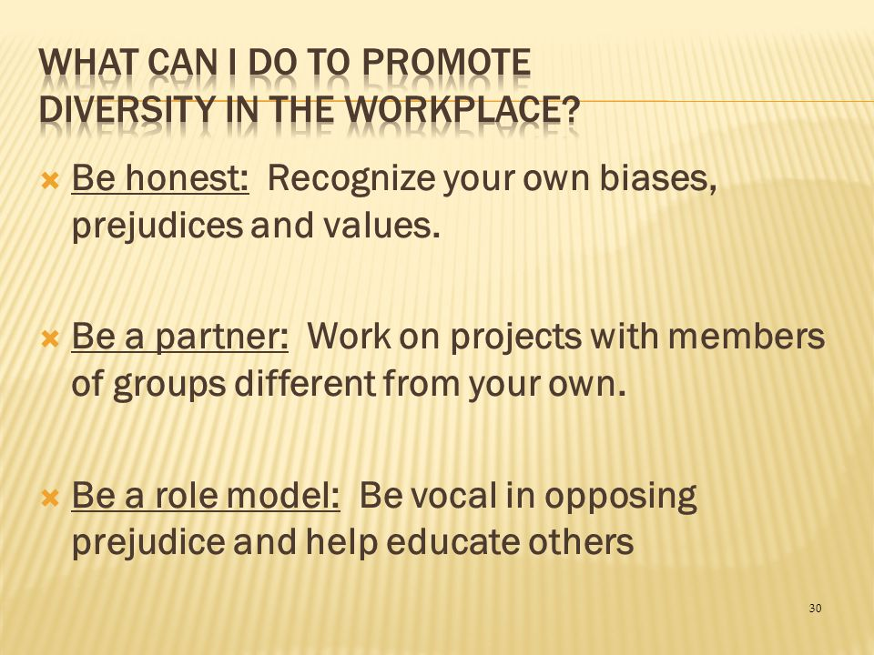 What Can I Do To Promote Diversity In the Workplace