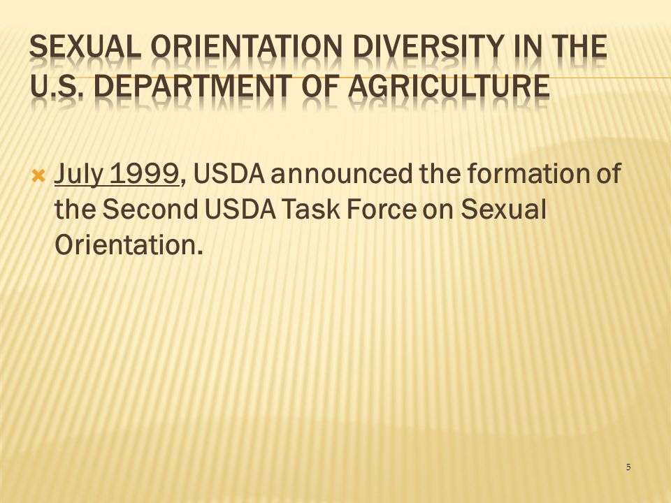 Sexual Orientation Diversity in the U.S. Department of Agriculture
