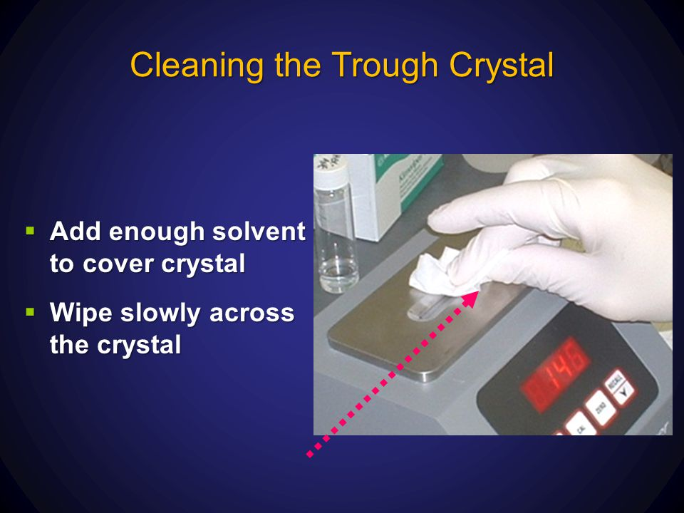 Cleaning the Trough Crystal