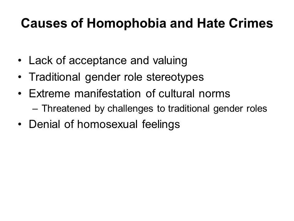 Causes of Homophobia and Hate Crimes