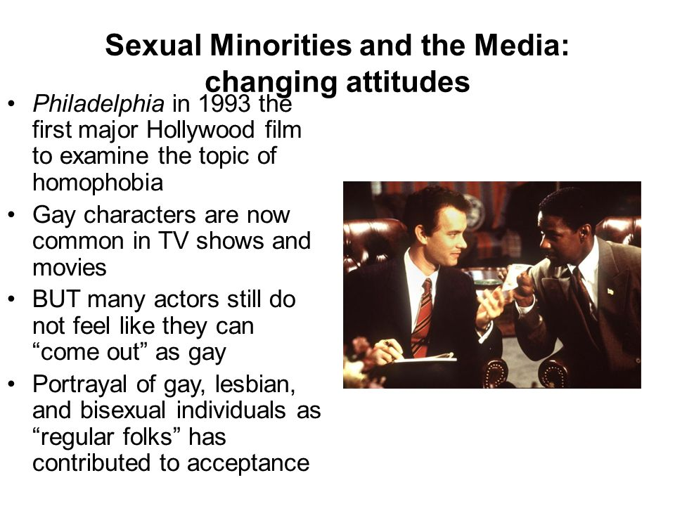 Sexual Minorities and the Media: changing attitudes