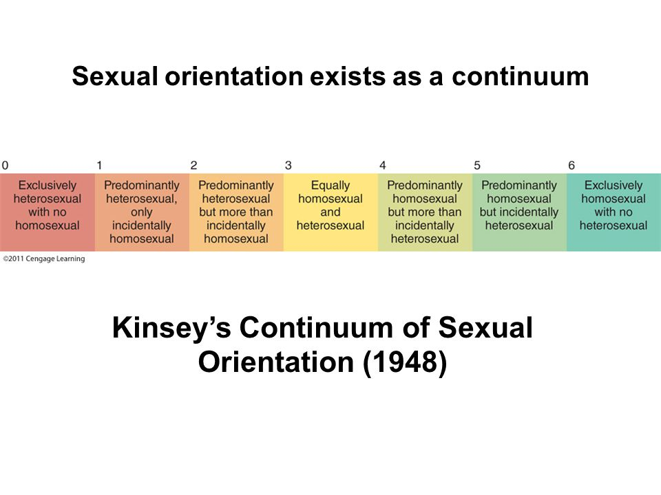 Sexual orientation exists as a continuum