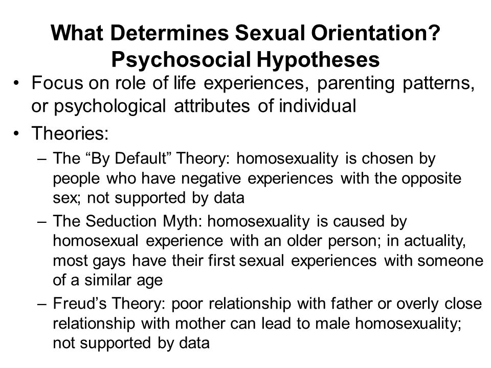 What Determines Sexual Orientation Psychosocial Hypotheses