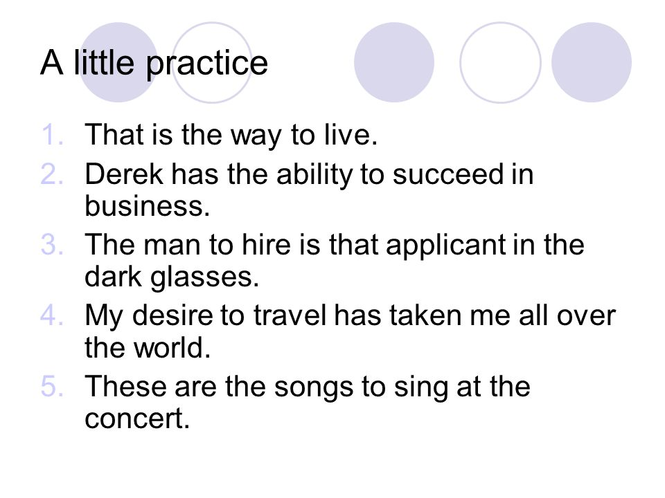 A little practice That is the way to live.