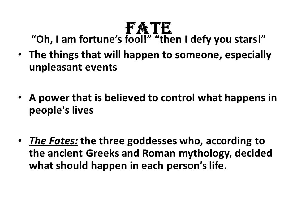 romeo and juliet essay introduction on fate Fate is the dominant theme throughout william shakespeare's romeo and juliet fate is an inevitable and often adverse outcome or condition destiny.