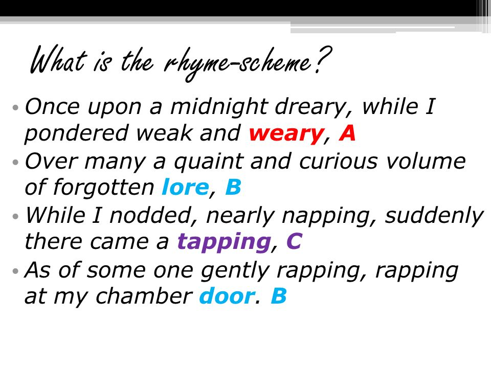 What is the rhyme-scheme