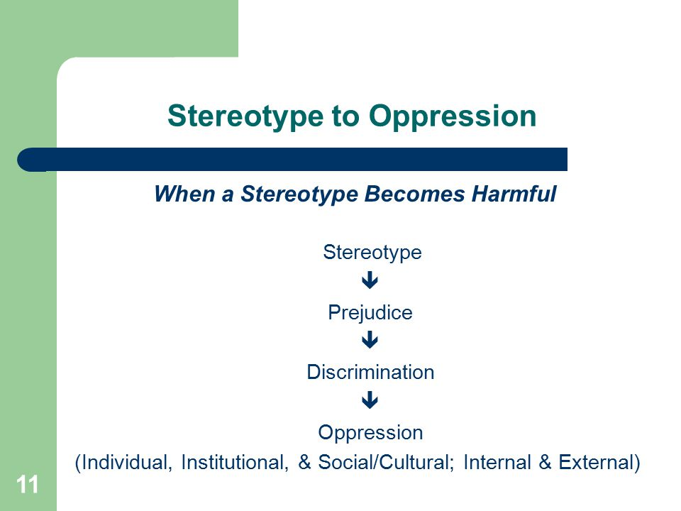 Stereotype to Oppression