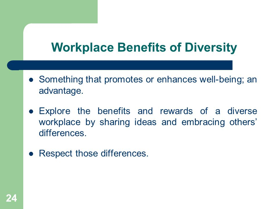 Workplace Benefits of Diversity